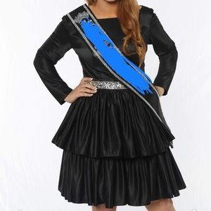 Dresses & Skirts - Black long sleeved homecoming dress ruffles tiered
